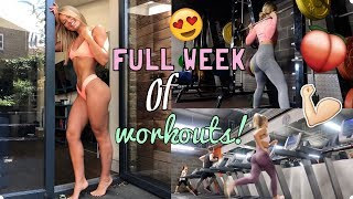 A REAL LIFE WEEK OF WORKOUTS | WORKOUT WITH ME FOR A WEEK!