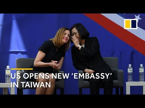 US opens new 'embassy' in Taiwan