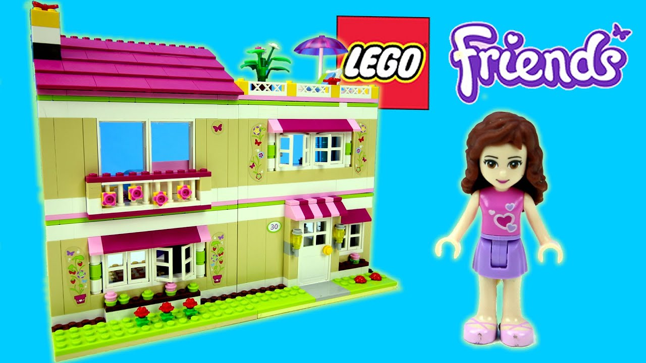 Lego Friends Olivia s House Building Set Review Stop Motion Toy
