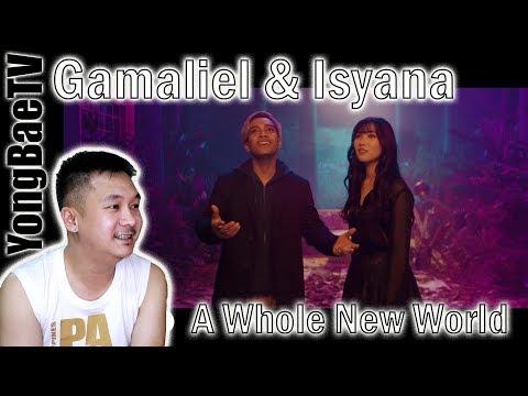 Gamaliél & Isyana Sarasvati - A Whole New World (Aladdin) | Reaction | YongBaeTV