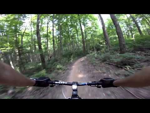 Mountain Biking @ Fort Harrison State Park on Lawrence Creek Trail Part ONE
