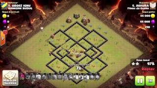 Clash of clans-Ataques de hog(War)