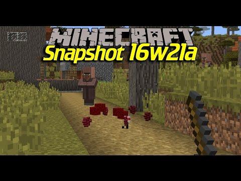 FISKA UPP DINA SAKER | Minecraft 1.10 - Snapshot 16w21a