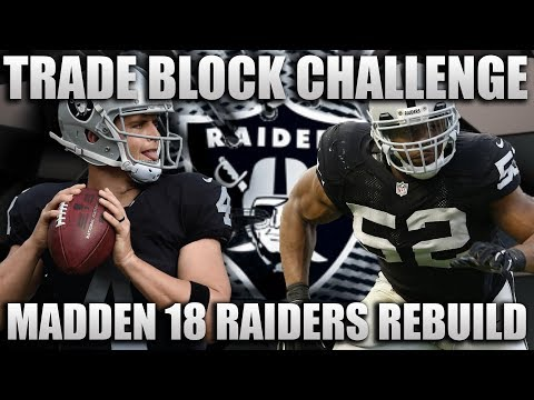 Trade Block Challenge Rebuilding the Oakland Raiders! | Madd
