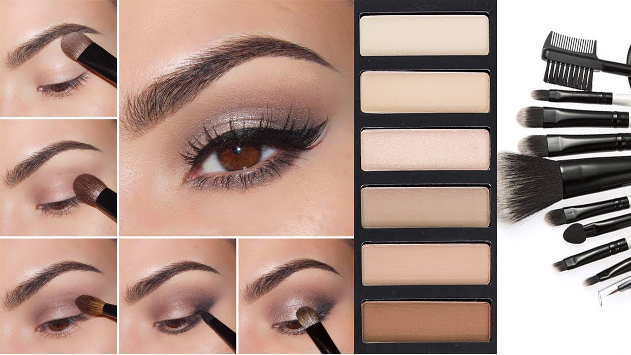 nude eyeshadow tutorial | step by step neutral eyeshadow tutorial for beginners | neutral smokey eye