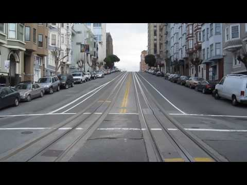 California Street Cable Car Ride Nob Hill San Francisco California