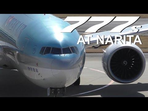 30+ Minutes of Plane Spotting - Boeing 777s at Tokyo-Narita International Airport ᴴᴰ