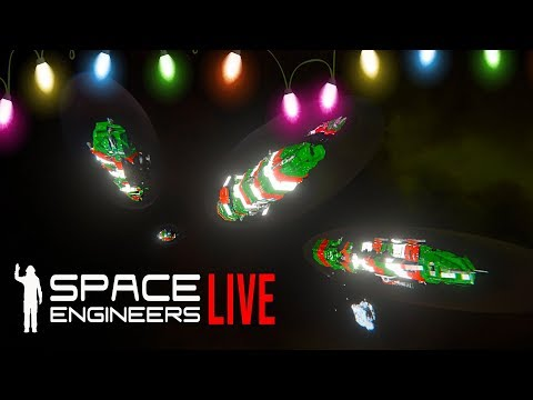 The CHRISTMAS Space Invasion - Space Engineers Survival Warfare!!