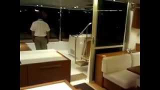 New 2012 Lagoon 560 Catamaran Night Tour at Miami Show