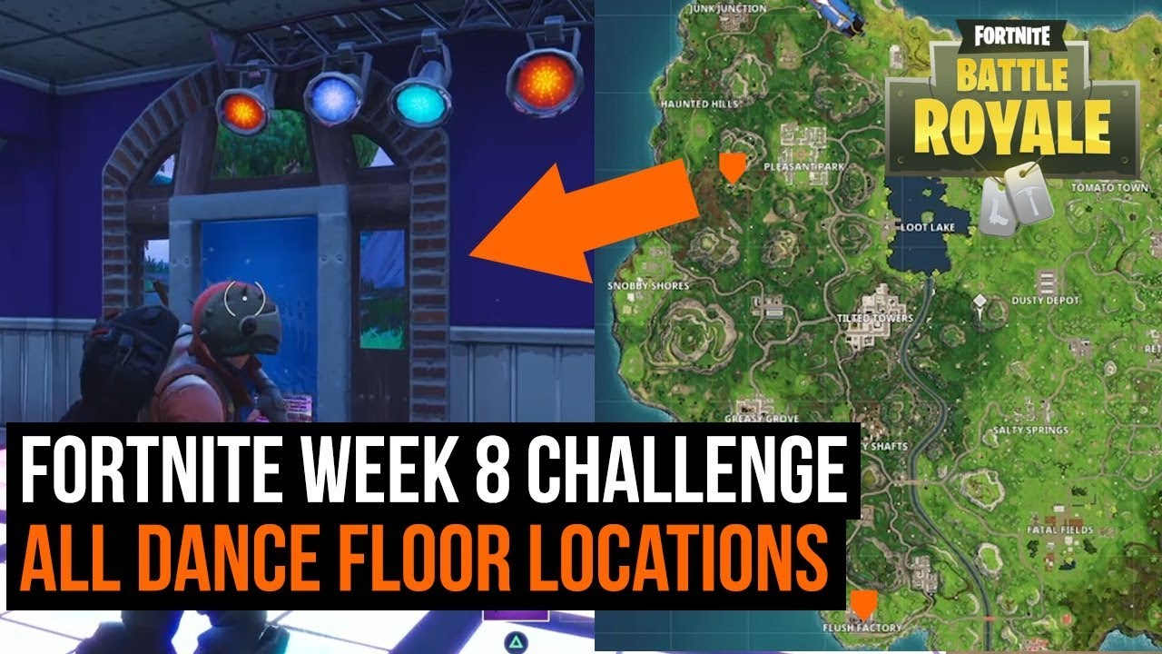 All 3 Dance Floor Locations In Fortnite Season 3 Challenge Youtube