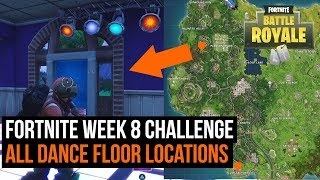 All 3 Dance floor locations in Fortnite - Season 3 challenge