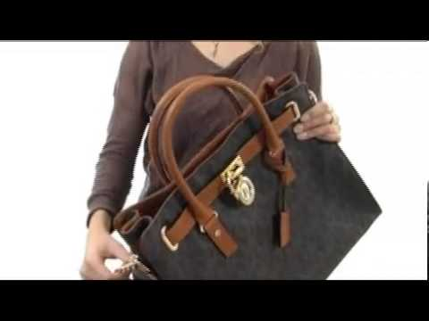 01fff19cdec6 MICHAEL Michael Kors Hamilton North South Tote with PVC Logo SKU  7966648 -  YouTube