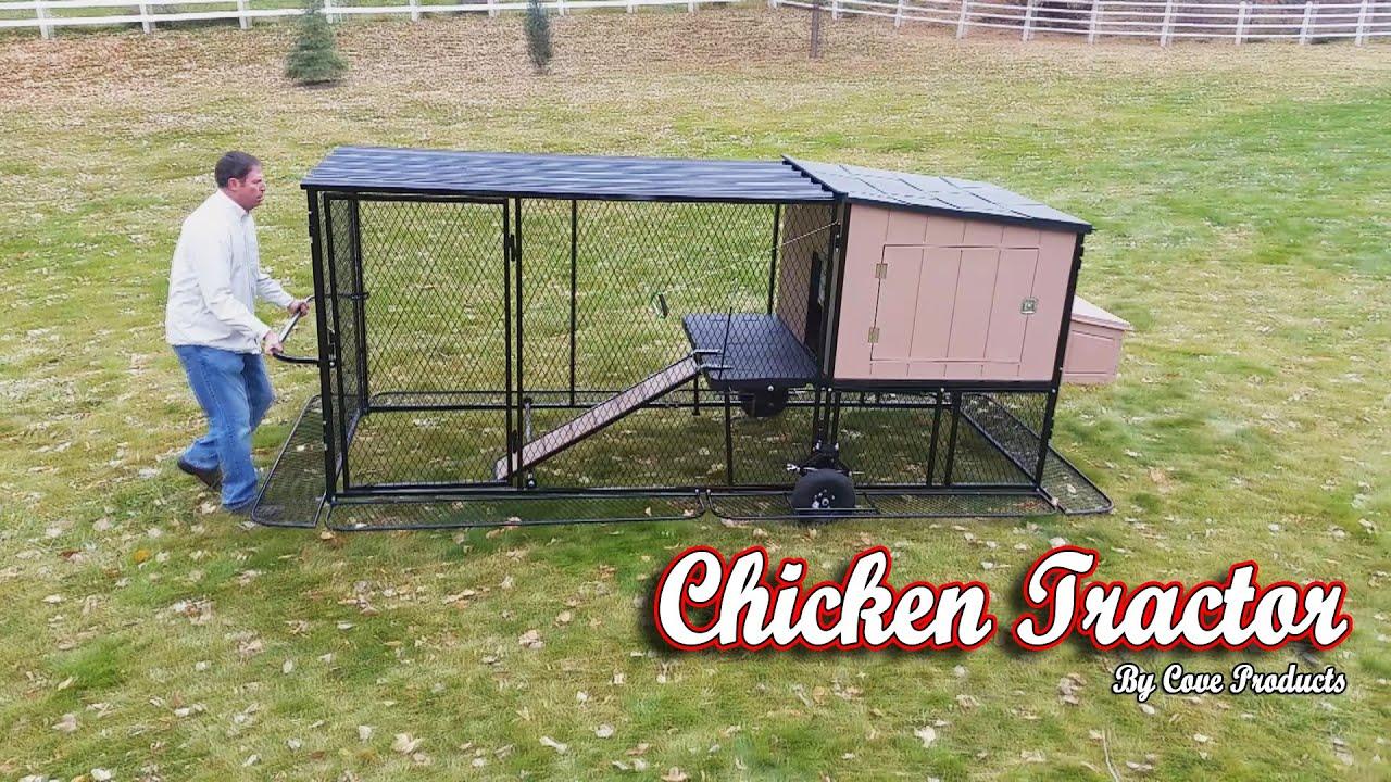 Tractor Wheels Chicken Co Op : Chicken tractor coop youtube