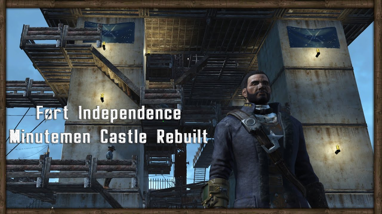 castle's walls fixed! fallout 4 base building - youtube