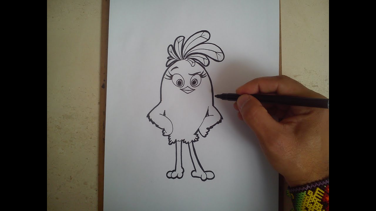how to draw angry birds movie