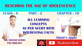 CL_8_CH_10_PART 2_ REACHING THE AGE OF ADOLESCENCE AS PER NCERT / CBSE