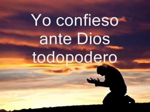 Oracion Del Yo Confieso Youtube