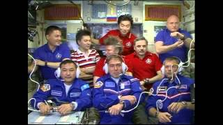 Expedition 45/Visiting Crew Welcomed Aboard the Space Station