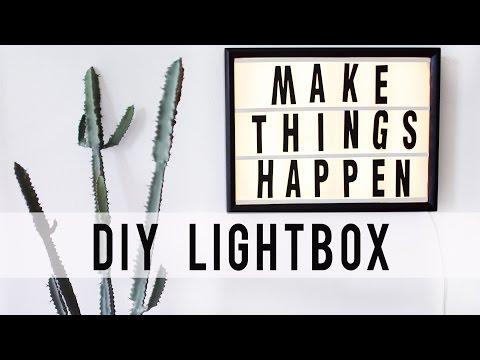 Diy Led Lightbox Hack