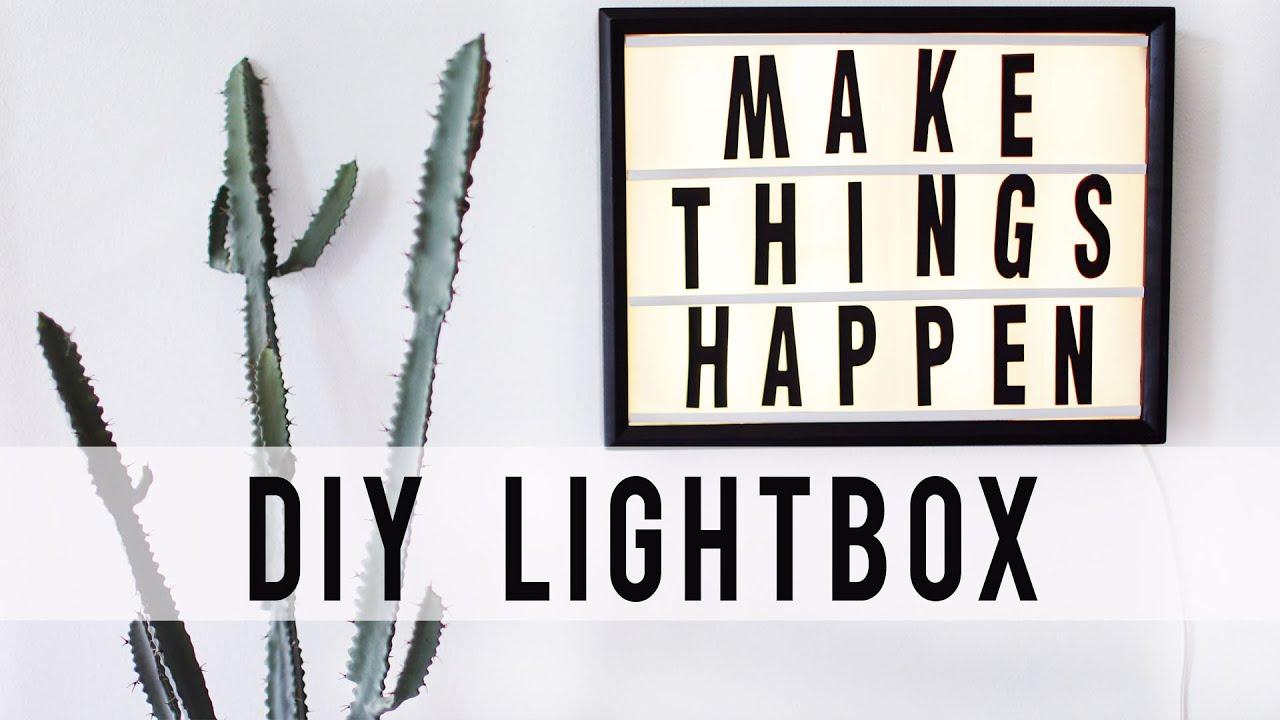 DIY LED LIGHTBOX HACK | Room Decor | ANN LE - YouTube