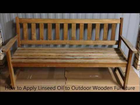 Linseed Oil To Outdoor Wooden Furniture
