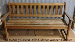 How to Apply Linseed Oil to Outdoor Wooden Furniture