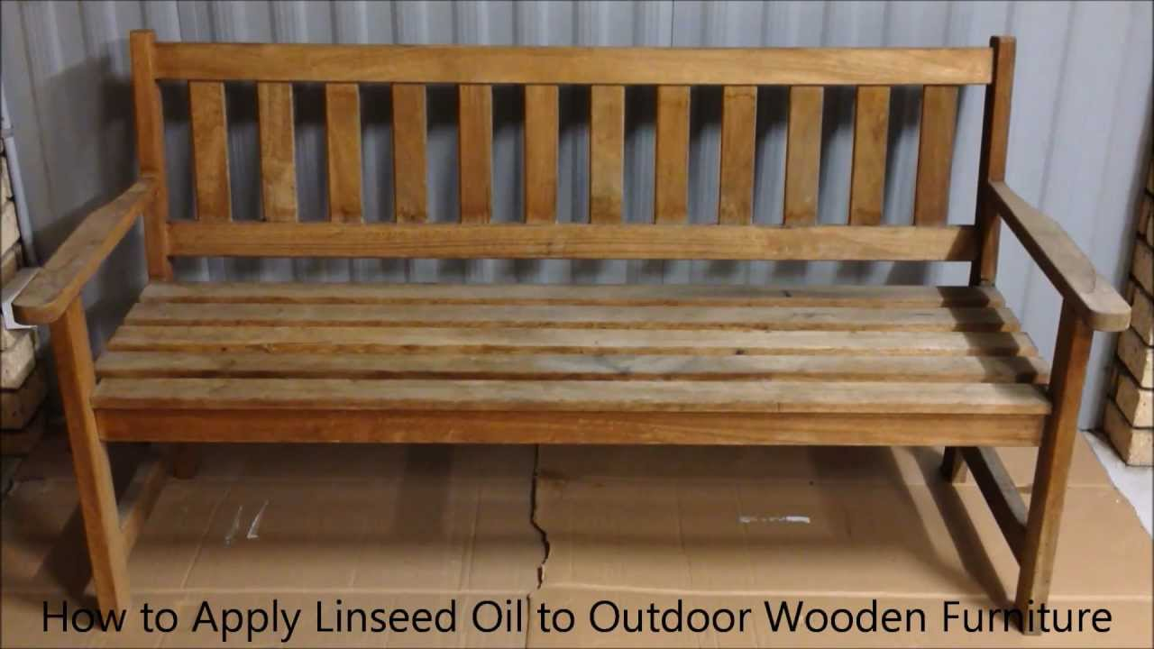 how to apply linseed oil to outdoor wooden furniture youtube - Garden Furniture Stain
