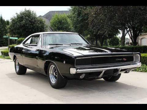 Dodge Challenger 1969 Black >> 1968 Dodge Charger RT For Sale - YouTube