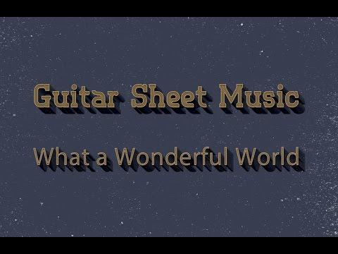 what a wonderful world guitar sheet music pdf