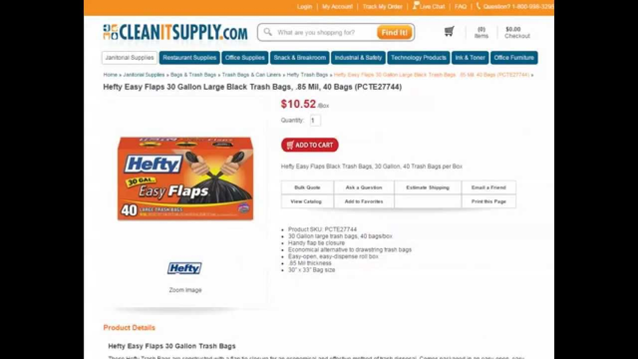Hefty Trash Bags - Garbage Bags, Hefty Tall Kitchen Bags - YouTube