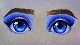 Galaxy Eyes Speed Drawing