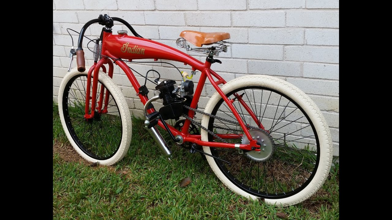 Indian Board Track Racer Replica Motorized Bicycle Bike