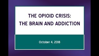 "The Opioid Crisis: ""The Brain and Addiction"" (October 4, 2018)"