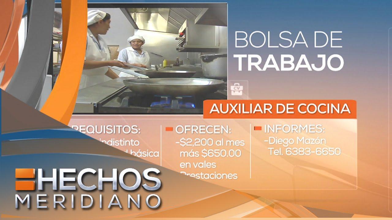 Ofertas De Trabajo Ayudante De Cocina | Bolsa De Trabajo Se Solicita Auxiliar De Cocina Youtube