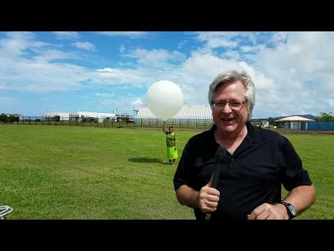 Releasing a Weather Balloon in American Samoa
