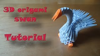 How To Make A 3d Origami Swan - Model #1