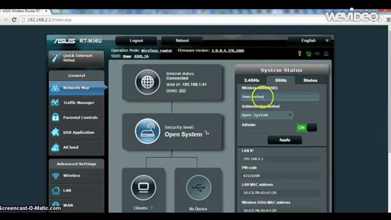 Setting up your Asus wireless router - YouTube