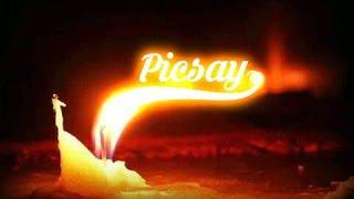 tutorial membuat api berbentuk nama dengan picsay pro