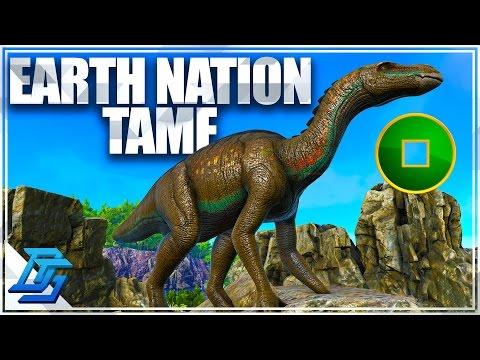 Earth Nation Taming , Iguanodon Tame ! - Ark Survival Evolved - Avatar Mod