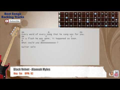 how to play black velvet chords