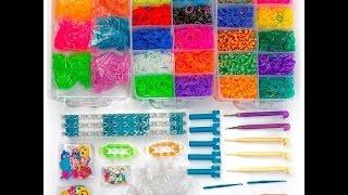 Трехэтажный набор для плетения браслетов из 10000 резинок - обзор и распаковка