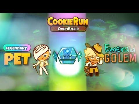 Cookie Run: OvenBreak SEASON 3 | NEW Legendary Emerald Golem Pet | HD Quality
