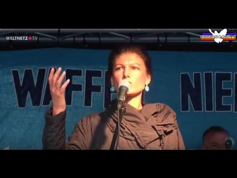 Krieg ist ein Verbrechen - Sahra Wagenknecht - Friedensdemo