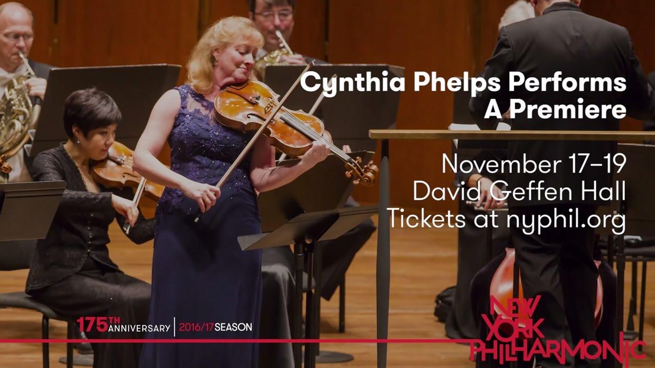 Principal Viola Cynthia Phelps Performs a Premiere