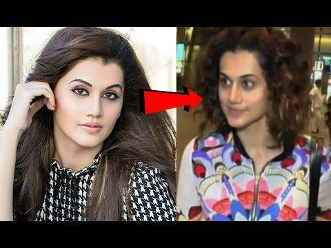 Taapsee Pannu Without Makeup At Mumbai Airport