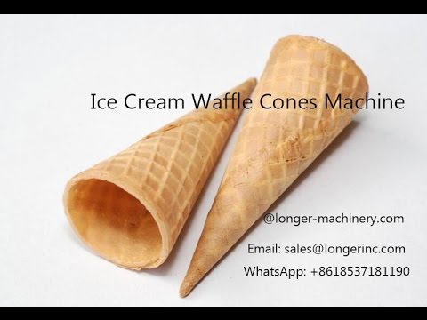 Ice cream waffle cone processing line waffle sugar cones making ice cream waffle cone processing line waffle sugar cones making machine video longer machinery ccuart Gallery