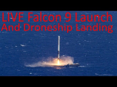LIVE - Reused Space-X Falcon 9 Rocket Launching SES 11 And EchoStar 105 Communications Satellites