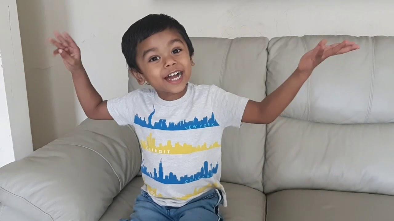 2 year old boy telling story - YouTube
