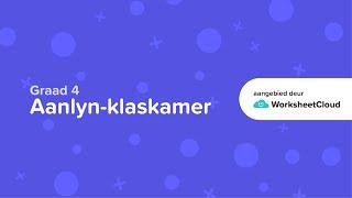 Graad 4 - Afrikaans - Byvoeglike naamwoorde / WorksheetCloud Video Lesson