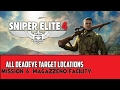 Sniper Elite 4 - Mission 6 - Magazzeno Facility - All Deadeye Target Locations (Stone Eagles)
